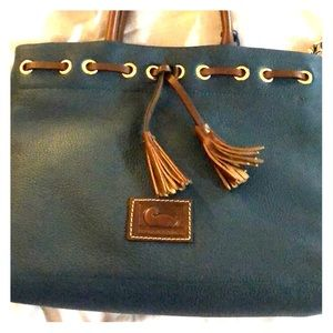 Brand new Dooney & Bourke green/teal leather bag